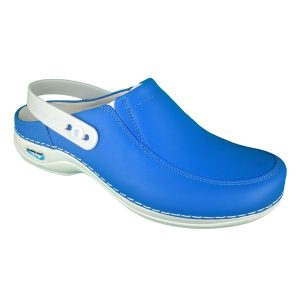 Comfort Shoes Direct - Wash&Go P07 – Electric blue Nurses shoe