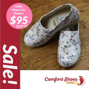 Comfort Shoes Direct - Wash&Go flowers slip-on