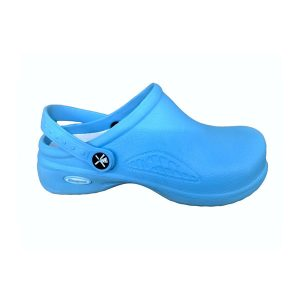 Comfort Shoes Direct - Ladies Service Black Clogs Blue