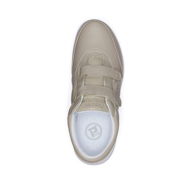 Comfort Shoes Direct - Propet Easy Walker Bone White Top View