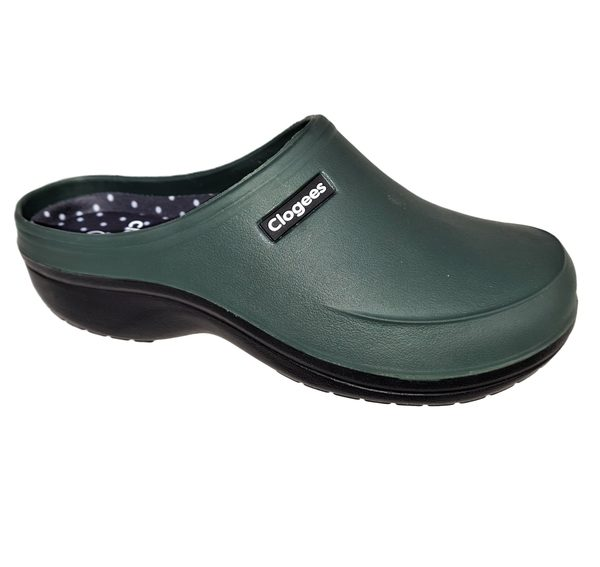 Comfort Shoes Direct - Ladies Clogees Eliza Garden Green